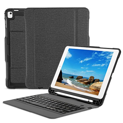OMOTON Custodia con Tastiera Bluetooth per Nuovo iPad 9.7...