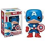 Funko Pop Marvel: Captain America Figura de Vinilo, Multicolor (FUN2224)...
