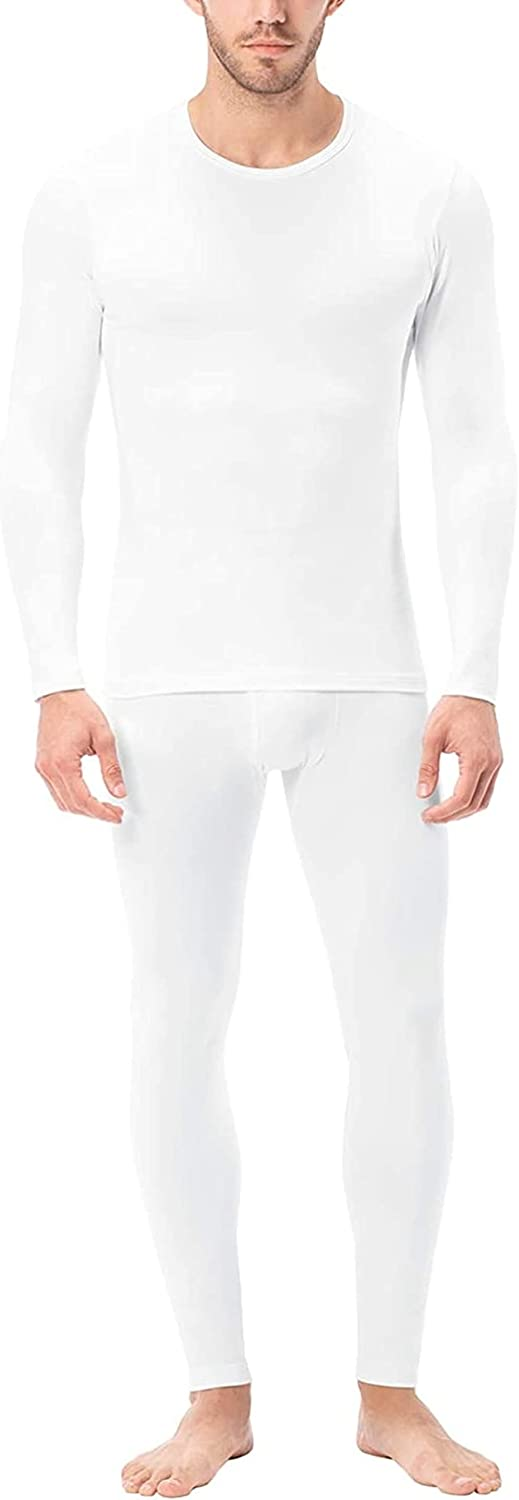 Thermal Underwear for Men Long Set Lined Base Layer Top and Bottom Set