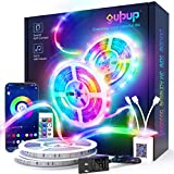 LED Strip Lights 100ft, GUPUP Smart LED Lights for Bedroom RGB Color Changing Light Strip Sync to Music with Bluetooth APP and 24-Key Remote DIY for Bedroom, Living Room