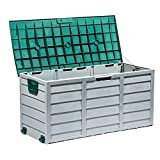 Tiptiper Deck Box, 79 Gallon Outdoor Storage Box Water Resistant with Lockable Lid, Deck Storage Box for Outdoor Cushions