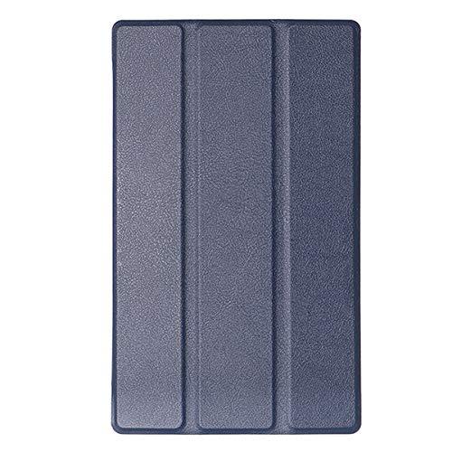 feilai Tablet Accessories Tri Fold Case Cover For TAB4 8 TB-8504F/N (Color : Dark Blue)