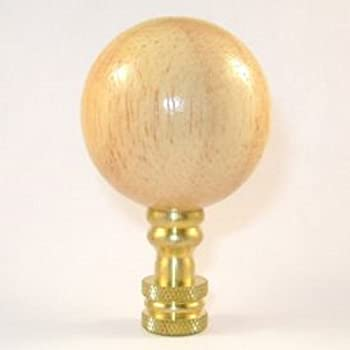 1.25 Inch Diameter Ball Lamp Finial 1.75 Inches High Polished Brass