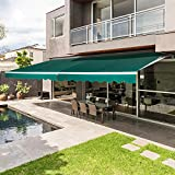 Best Awnings - AECOJOY 8.2'×6.5' Patio Awning Retractable Sun Shade Awning Review