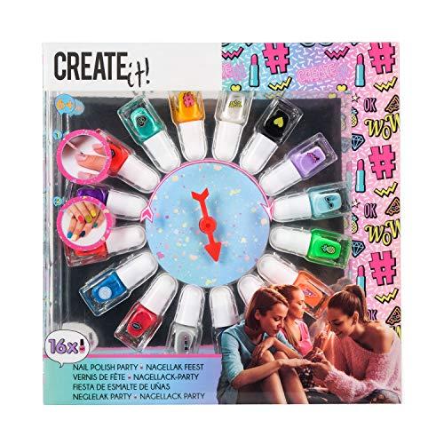 CREATE IT - Palette de 16 vernis à ongles fluo - pour enfant fille - 84167