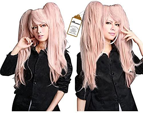 Free Hair Cap + Danganronpa Junko Enoshima Party Hair Cos Cosplay Wig Hallowmas by Anangel