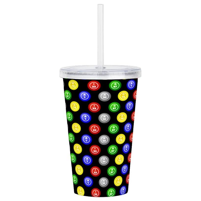 CafePress - Bingo Balls Black Case.Png Acrylic Double-Wall Tum - Insulated Straw Cup, 20oz Acrylic Double-Wall Tumbler