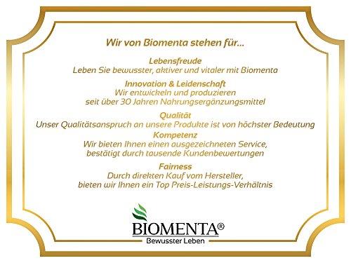 Biomenta® 1000g reines Creatin Monohydrat Pulver | Hochwertiges geschmacksneutrales Creapure® Creatine / Kreatin | Optimiert mit Vitamin B6 (Pyridoxin), B9 (Folsäure) und B12 (Methylcobalamin) | Hergestellt in Deutschland | Unterstützt beim Kraftsport & Bodybuilding - 7