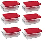 Pyrex 3-Cup Rectangle Food Storage Container (Value Pack of 6 Containers)