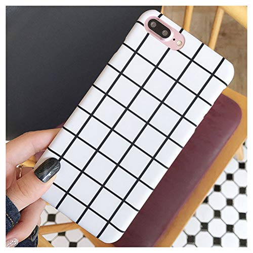 Mixneer for iPhone 6/6s Case Simple Black White Grid Lattice Phone Cases Hard PC Matte Cover Zebra Stripes Triangle for Apple iPhone 6/6s - Style 2