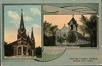 The Holy Family Church Mason City, Iowa Original Vintage Postcard
