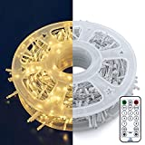 Oopswow 165FT 500LED String Lights LED Starry Fairy Light, Twinkle String Lights Decorative Lights with 8 Modes Light Sensor Plug in for Wedding,Patio,Gate,Party Indoor Outdoor Decor ,500L Warm White