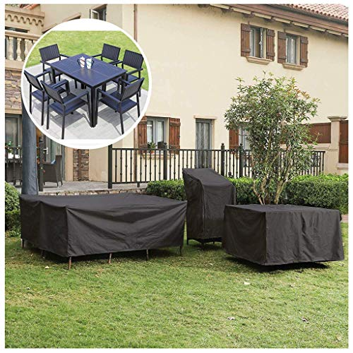 Garden Furniture Cover, Outdoor Heavy Duty 210D Oxford Fabric Patio Furniture Covers Waterproof Rectangular Windproof And Anti-UV Garden Table Covers (Size : 242×162×100cm)