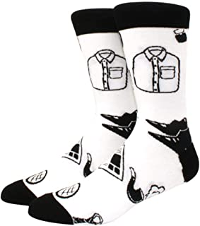 YDY, Calcetín para Hombre Diamond Ramen Astronaut Pattern Hip Hop Cool Calcetines para Hombres Invierno Grueso Long Skate Calcetines Divertidos Coloridos