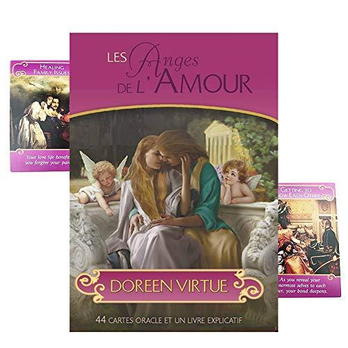 Mystérieuses Cartes d'ange Romantique, Amour Guide/prédire Le Sort des Cartes de Tarot, 44 Or Cartes de Tarot Ange Romantique, Jeu Cadeau épuisé, en Anglais