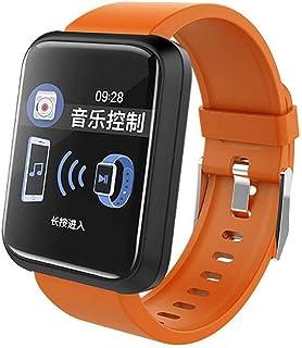 WF Pulsera Actividad Inteligente Hombre con Pulsometro, Impermeable IP67 Reloj Fitness Podómetro Monitor Calorías Sueño SMS SNS Smart Watch Mujer Hombre iOS Android (Rojo)