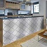 ENCOFT 4 Piezas Pegatinas de Baldosas Rectangular en Pet Impermeable Adhesivo para Azulejos Pegatinas de Azulejos Autoadhesivo Resistente al Calor para Cocina Baño 60x40cm