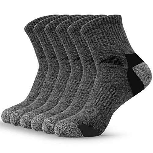 6 Paar Sneaker Socken Herren Damen Sportsocken Geruchshemmend Kurze Halbsocken Atmungsaktive Baumwolle socken Wandersocken Anti-Schweiß Weich Sportsocken Bequeme Passform, für Fitness, Tennis, Jogge