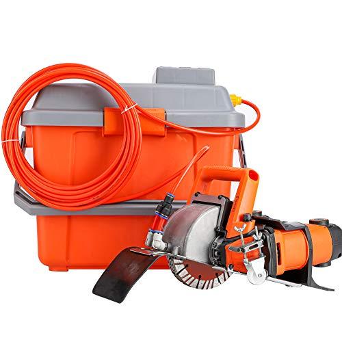 Huanyu Rozadora de Pared Amoladora Eléctricas 10500 u/min Máquina Ranuradora 5200w Fresadora de Hendido 0 To 45/72mm con Caja de Agua