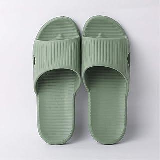 Men'S Indoor Slippers Floor Flat Shoes Summer Non-Slip Bathroom Home Couple Comfort Slippers