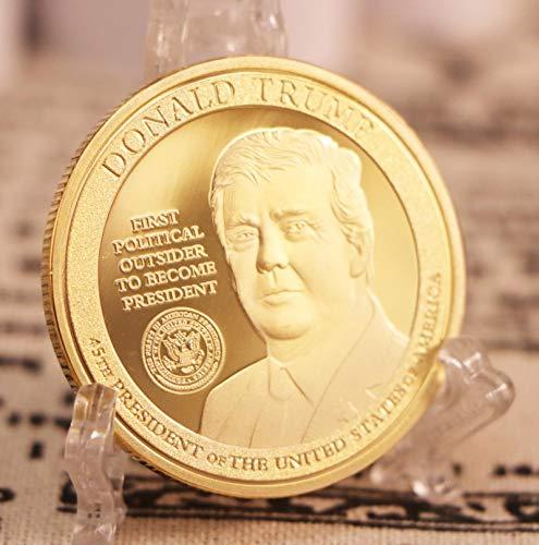La Moneda de Novedad de Oro de 24K de Donald Trump 2020 del Presidente número 45 de los Estados Unidos Convierte a los Estados Unidos una Vez más en un Gran envío Directo de Insignia