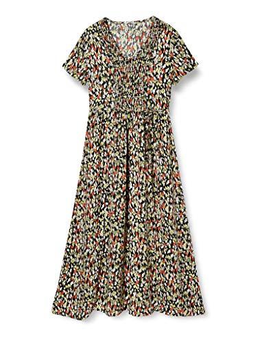 ONLY Damen ONLETHEL S/S MIDI Dress WVN Kleid, Black, 38