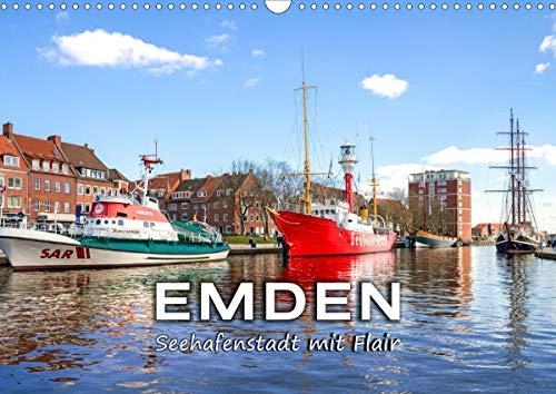 EMDEN Seehafenstadt mit Flair (Wandkalender 2021 DIN A3 quer)