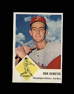 1963 Fleer Baseball #053 Don Demeter STARX 7 NM CS53125