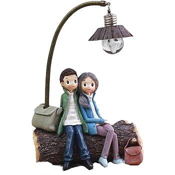 VOSAREA - Mini lámpara de salón o dormitorio, decoración artesanal, regalo para los amantes de la casa, día de San Valentín (D)