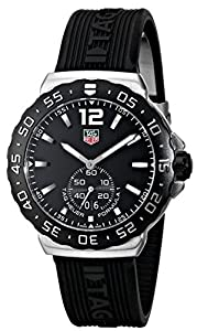 TAG Heuer Men's WAU1110.FT6024 Formula 1 Black Dial Black Rubber Strap Watch Prices and For Sale and review