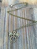 Collar de dragón de oro para hombre, collar de dragón inspirado en los descendientes, collar maléfico, joyería de disfraces de Mal, joyas de dragón, oro o bronce