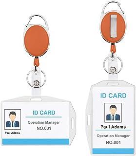 Retrattile Bobina Clip con ID Badge Portabiglietti per Infermieri Volontari Studenti Insegnanti YZCX Porta Badge Stile 1