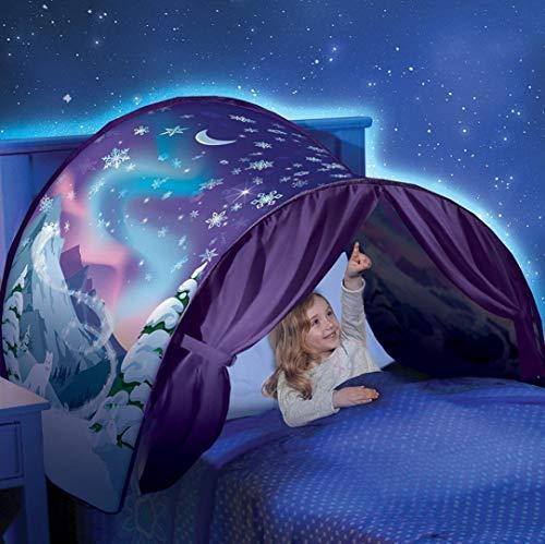 Lkinst Tienda de campaña plegable Dream LED Star para bebé (1-8 años) (Winter Wonderland)