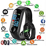 HUG PUPPY Smart Band Fitness Tracker Watch Heart Rate with Activity Tracker Waterproof