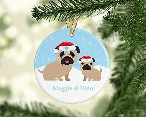 DKISEE Gepersonaliseerde Hond Keramiek Ornament, Knuffel Keramiek Ornament, Dierlijke Liefhebber Gift, Gepersonaliseerde Keramiek Ornament, Knuffel Moeder Gift 3.1 inch