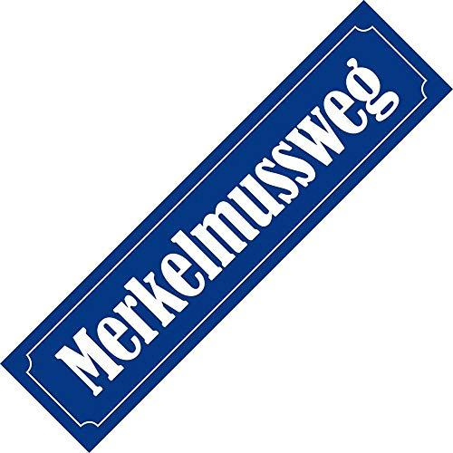 Aufkleber/Sticker - Merkel muss Weg, Merkelmussweg (Sticker-Set 10 Stück)