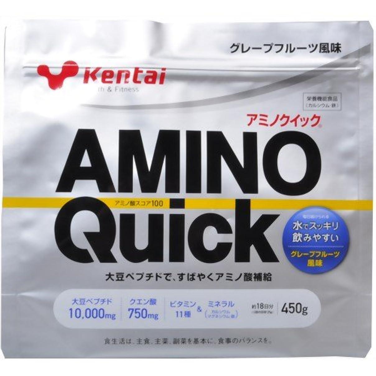 骨折クスコこれらKentai(ケンタイ) アミノクイック(大豆ペプチド) グレープフルーツ風味 450g