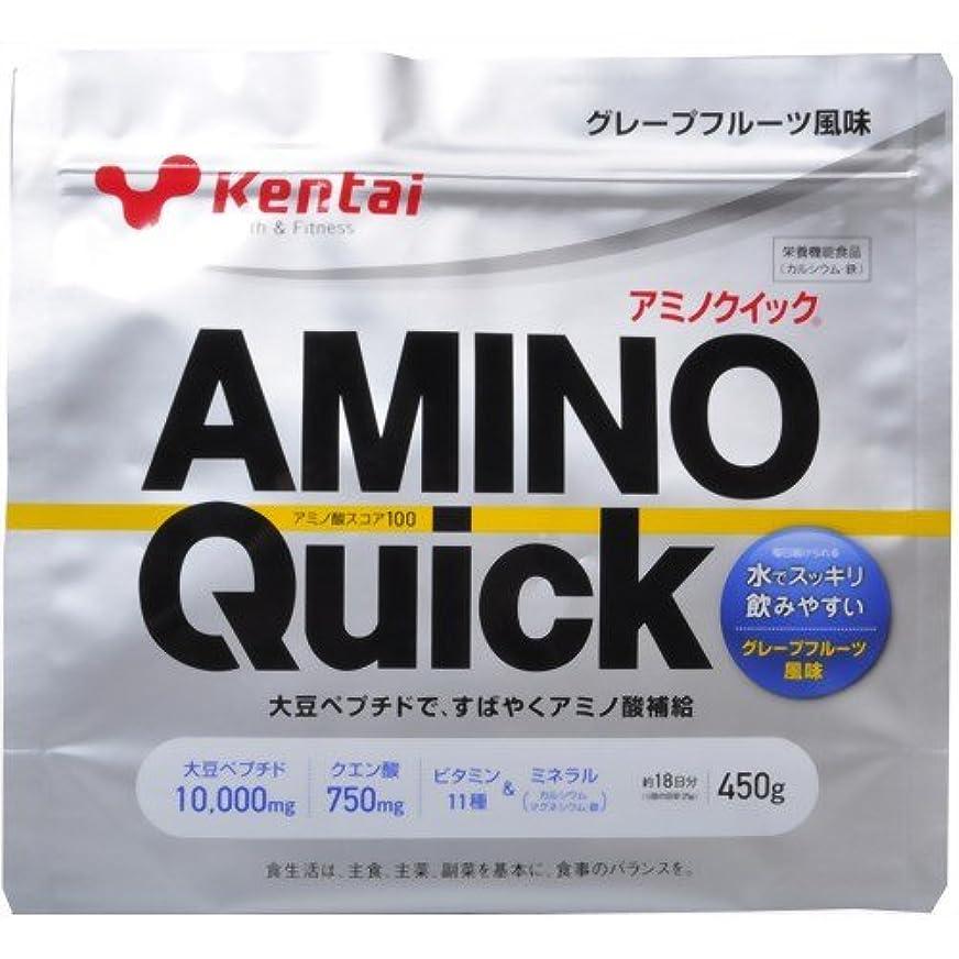 ジャンプする政治的不正直Kentai(ケンタイ) アミノクイック(大豆ペプチド) グレープフルーツ風味 450g