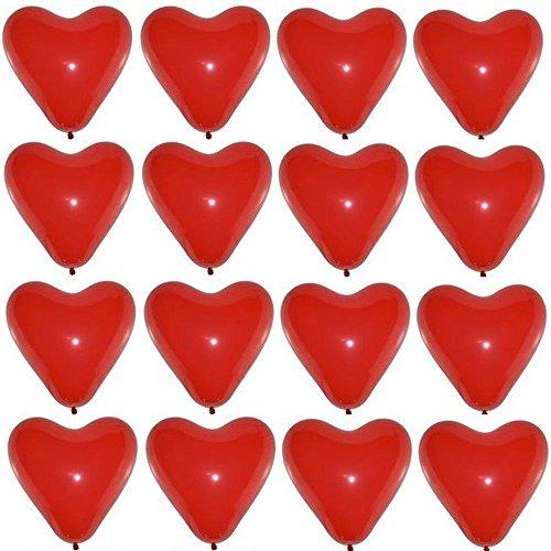 P&S events 50 große Premium Herz Luftballons Farbe Rot Ø 30cm Helium geeignet Markenqualität...