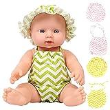 Demiawaking - Muñeca reborn para bebé (30 cm), color negro y blanco