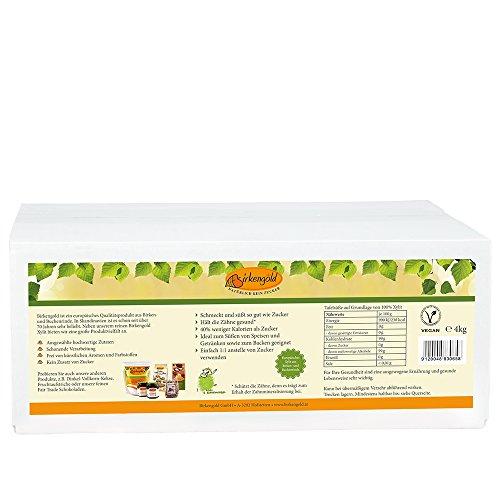 Birkengold Birkenzucker Xylit, 4 kg Beutel | 100 % Premium Xylit aus Finnland | aus Birken- und Buchenrinde| vegan | 40 % weniger Kalorien als Zucker | glutenfrei | zahnfreundlich