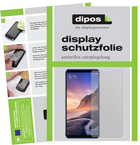 dipos I 6X Schutzfolie matt kompatibel mit Xiaomi Mi Max 3 Folie Bildschirmschutzfolie