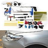 OU BEST CHOOSE - Kit reparador de abolladuras, reparador de abolladuras sin pintura, con martillo deslizante, extractor de abolladuras para coche