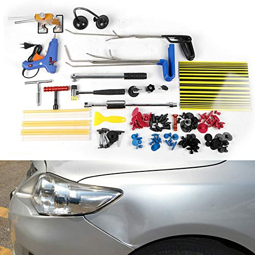 OU BEST SCEGLIERE Auto Body Dent Repair Tools Set, Auto Dent Puller Paintless Riparazione Kit di Rimozione, Scorrevole Martello Estrattore Dent Lifter