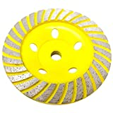 Stadea CWD103H 5' Diamond Cup Wheel - Turbo - Series Standard C - 5/8'11 T - Yellow
