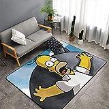 Alfombra para decoración del hogar, diseño de Simpsons de Matt Flowe Simpson, para exteriores, patio de 5 x 8 pies para sala de estar