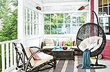 Poltrona sospesa da giardino e terrazzo | Sedia a Dondolo in Rattan intrecciato | Cuscino doppio lavabile | Colore nero incluso cuscino bianco e telaio di supporto