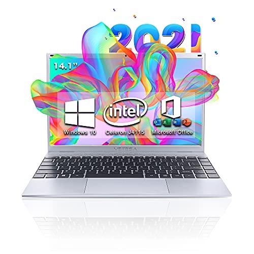 2021年モデル 14インチ Webカメラ搭載 Win 10搭載Office搭載パソコン初心者向け 外付けDVD付属 キングソフトインターネットセキュリティ (永久版)付属 インテル CPU Celeron J4005 1.6GHz~2.4 GHz  メモリー:8GB 高速SSD フルHD液晶/大容量バッテリー搭載 無線搭載  軽量薄型新品ノートパソコン DoBios D-14J415 (SSD:128GB)