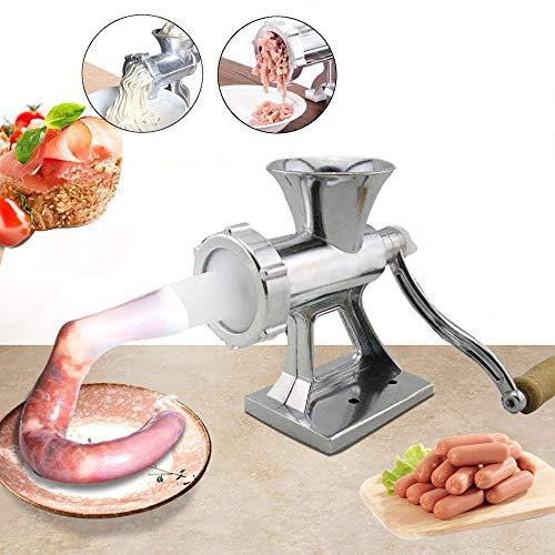 Fleischwolf Handbetriebenen Haushalt Multifunktions Fleischwolf Wurst Maschine Wurst LebensmittelqualitäT Aluminiumlegierung FüR Fleisch GemüSe KüChe Zu Hause