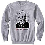 Photo de teesquare1st Men's Pyotr Ilyich Tchaikovsky 3 Grey Sweatshirt Size XXLarge